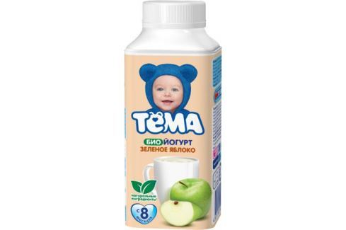 Биойогурт питьевой Тёма Зеленое яблоко 2,8% с 8 мес. 210 мл Йогурт