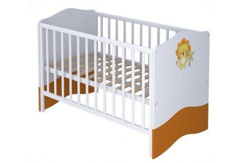 Кроватка Polini Basic «Джунгли» белый-оранжевый Трансформеры