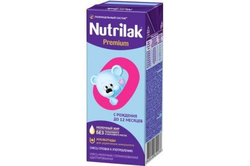 Молочная готовая смесь Nutrilak Premium стерилизованная адаптированная с рождения 200 мл Молочная смесь