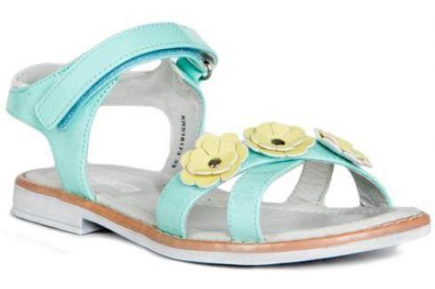 Туфли летние для девочки Barkito, светло-бирюзовый Детские туфли