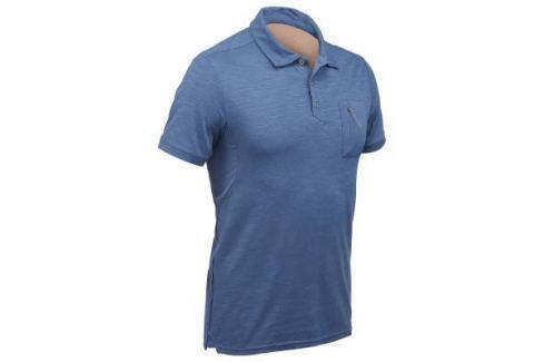 Рубашка–поло С Короткими Рукавами Travel 100 Мужская Синяя Мужские Шорты, Футболки Путешествия С Рюкзаком