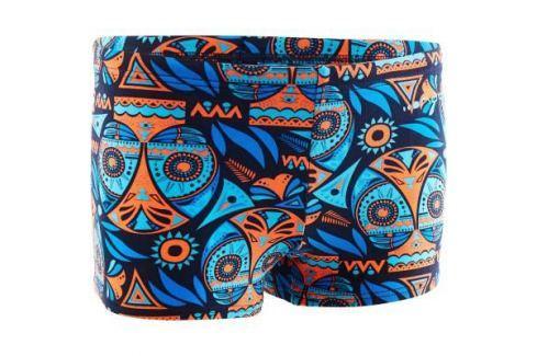 Плавки–боксеры Для Мальчика 500 Принт Allowla Оранжевые Плавки Для Мальчиков / Плавание