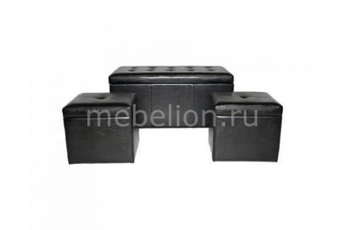 Банкетка Петроторг с ящиком для хранения 2552S черная Пуфы