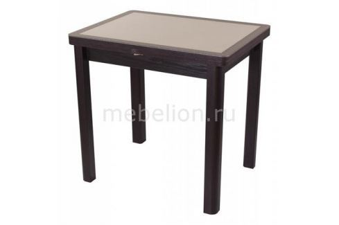 Стол обеденный Домотека Чинзано М-2 со стеклом и экокожей Раскладные столы