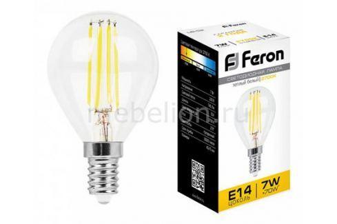 Лампа светодиодная Feron LB-52 E14 7Вт 220В 2700 K 25874 Лампочки