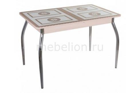 Стол обеденный Домотека Гамма ПР со стеклом Раздвижные столы