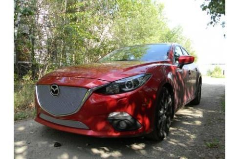 Защита радиатора Premium, хром, верх Allest MAZ13.PREMIUM.top.chrome для Mazda 3 2013-2017 3 (2013 - 2017)