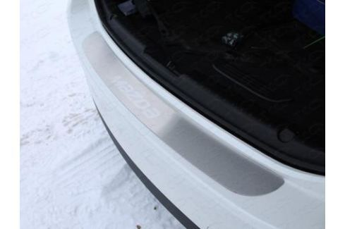 Накладка на задний бампер (лист шлифованный надпись Mazda) ТСС MAZ615-10для Mazda 6 (2015 - 2017) 6 ( 2012 - 2017)