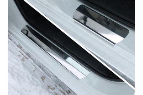 Накладки на пороги (лист зеркальный) ТСС MAZ615-03 для Mazda 6 (2015 - 2017) 6 ( 2012 - 2017)