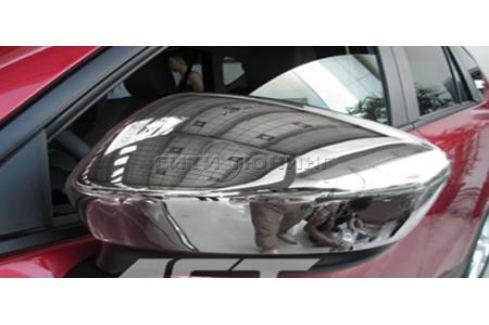 Накладки на зеркала, хром. OEM-Tuning CNT35-CX5-036 для Mazda 6 (2012 - 2017) 6 ( 2012 - 2017)