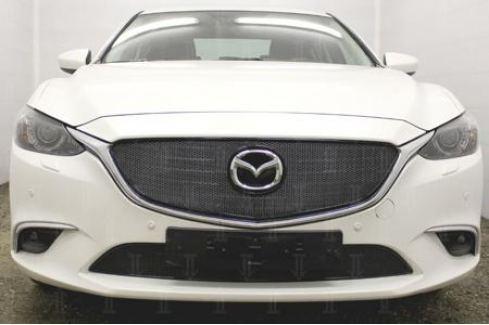 Защита радиатора Premium, чёрная, низ Allest MZ6.15.PREMIUM.bot.blackдля Mazda 6 (2015 - 2017) 6 ( 2012 - 2017)